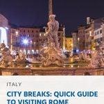 Pinterest - City Breaks_ Guia rápido para visitar Roma