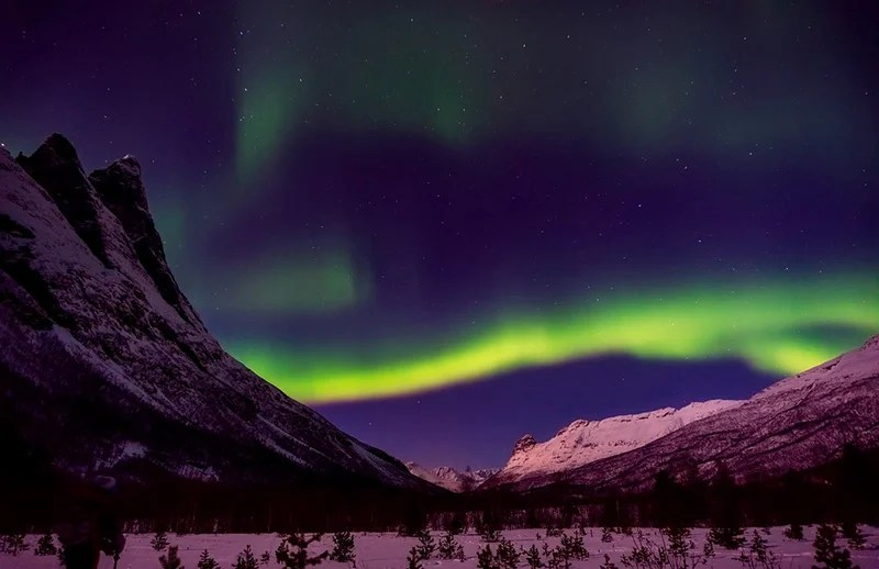 Aurora boreal na Noruega - CC0 (Pixabay)