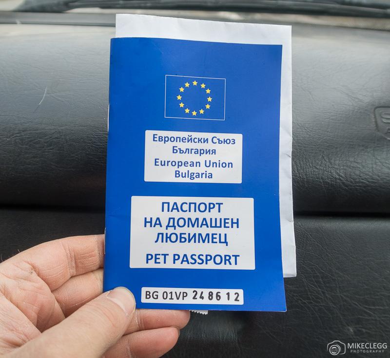 Passaporte do animal de estimação na Bulgária