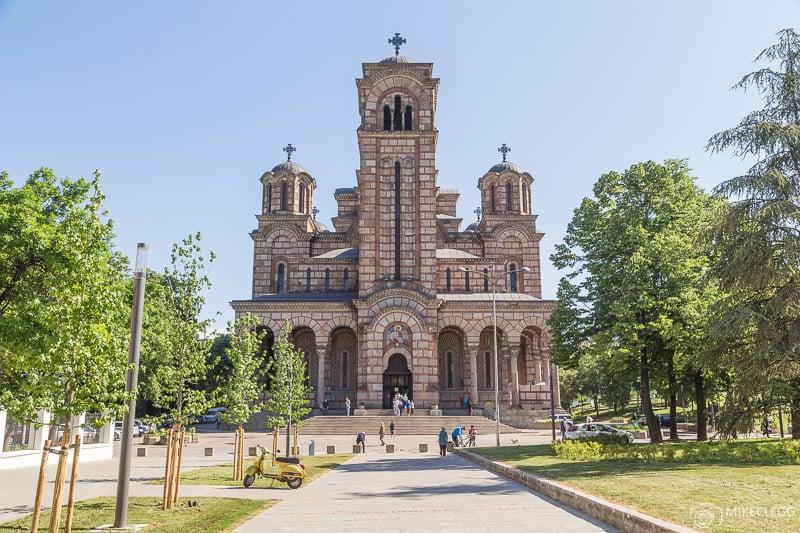 Frente da Igreja de São Marcos, Belgrado