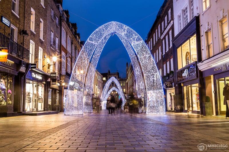 Luzes de Natal da South Molton Street, Londres