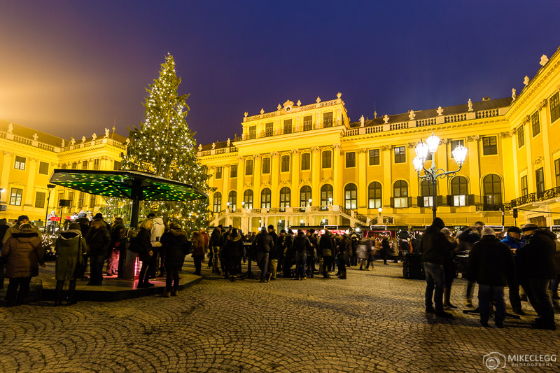Mercado de Natal em Schönbrunn