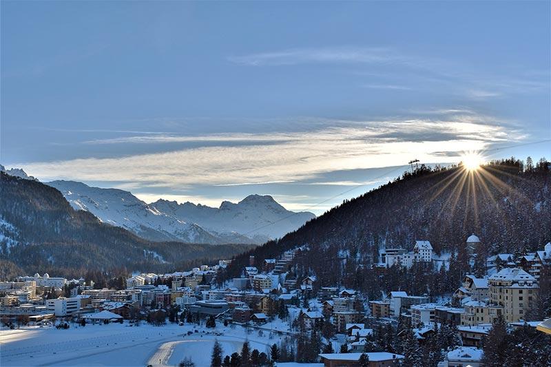 St Moritz - Suíça no inverno