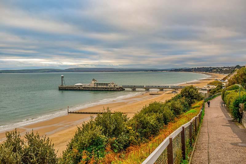 Praia de Bournemouth, Inglaterra
