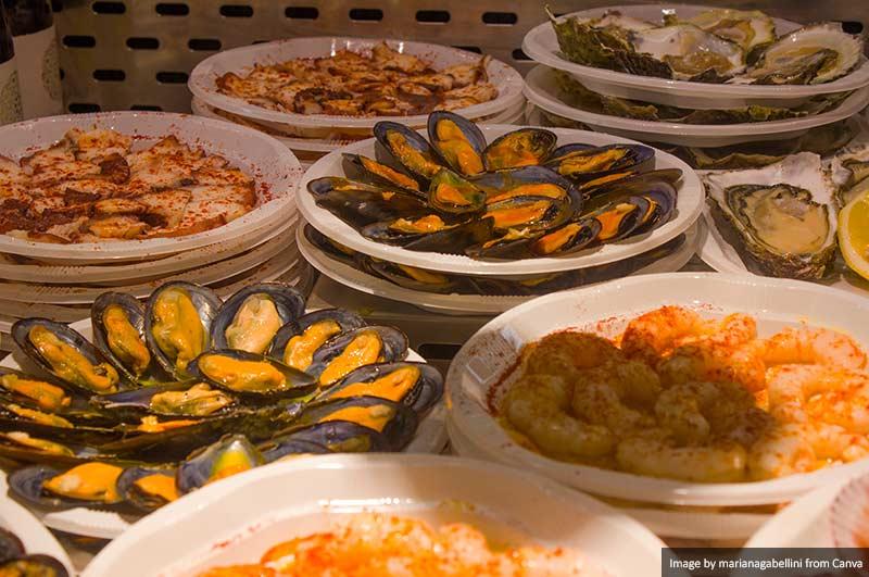 Comida no Mercado San Miguel