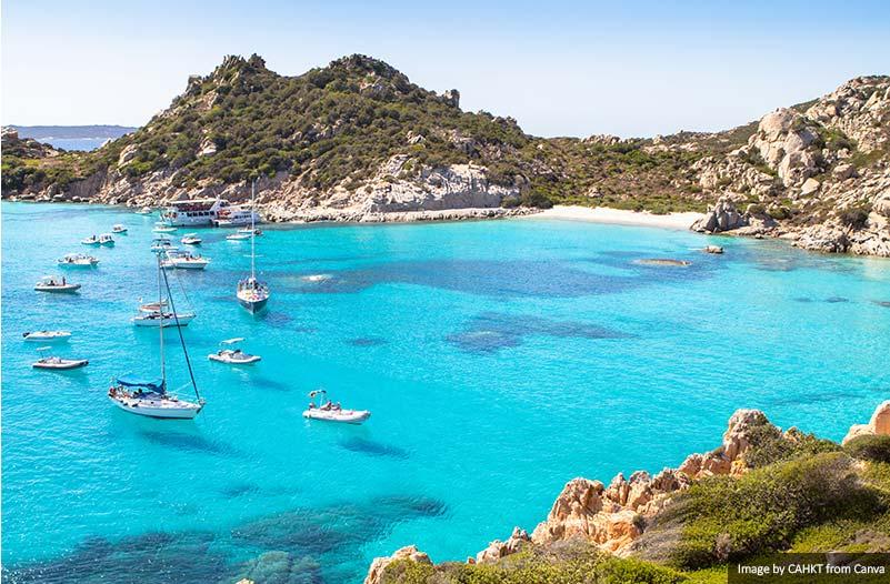 Spiaggia di Cala Corsara, ilha da Sardenha