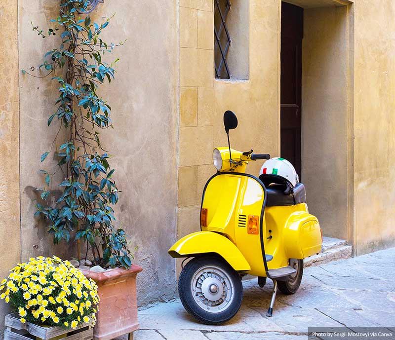 Scooter em Florença