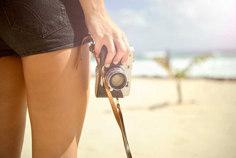 Pequena câmera de viagem