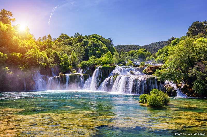 Cachoeiras no Parque Nacional de Krka