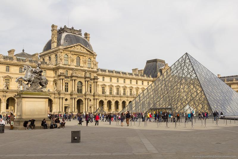 Exterior do Louvre durante o dia