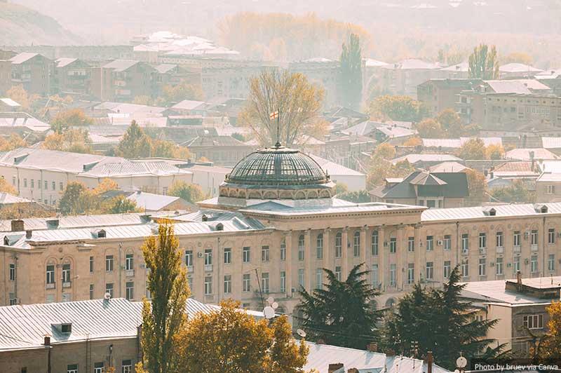 Prefeitura de Gori na Praça Stalin