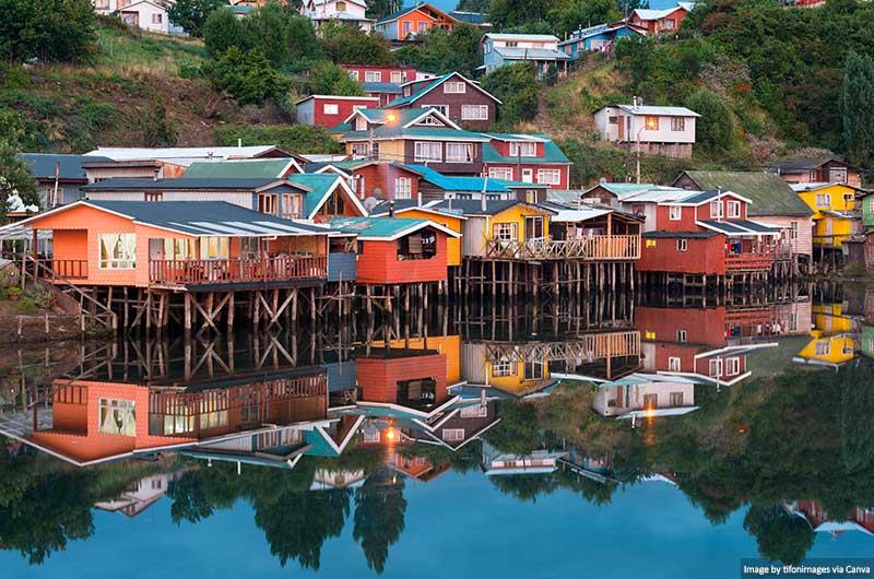 Cidade de Castro na Ilha de Chiloé
