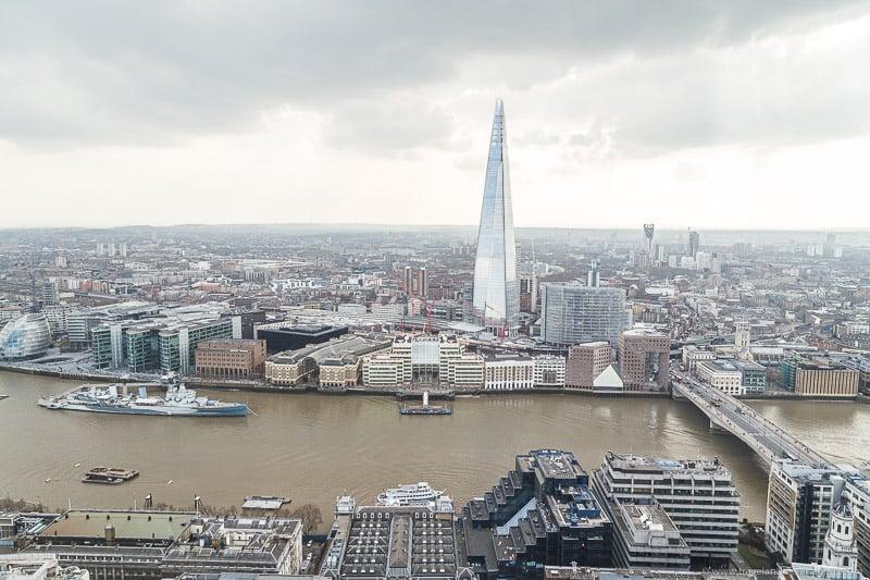 Vistas do Skygarden em Londres