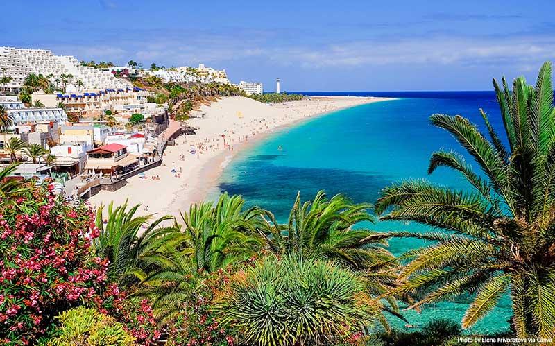 Praia Playa de Morro Jable em Fuerteventura
