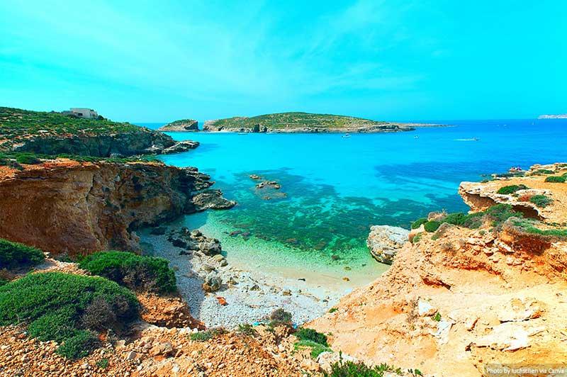 Lagoa Azul, Ilha Comino, Malta