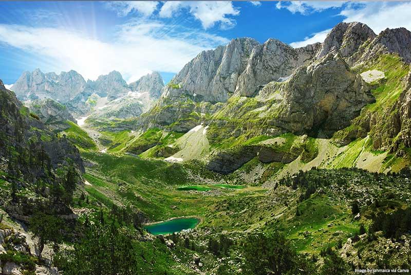 Lagos nos Alpes Albaneses