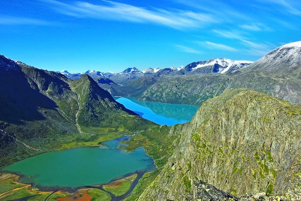 Vistas do Parque Nacional Jotunheimen