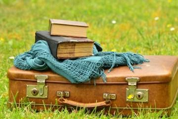 mala e livros