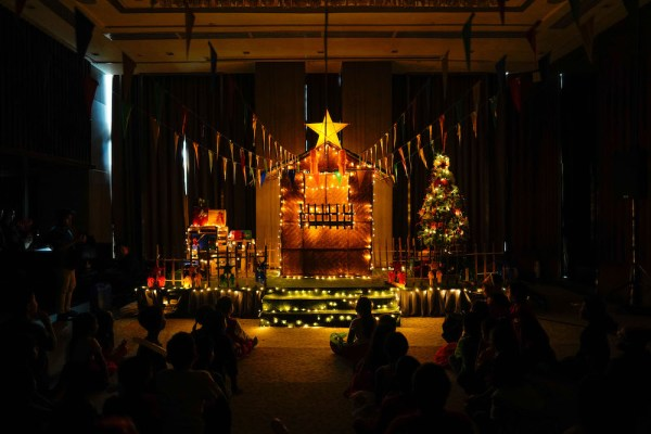 The lighting of the Christmas tree in a Filipino-inspired theme.