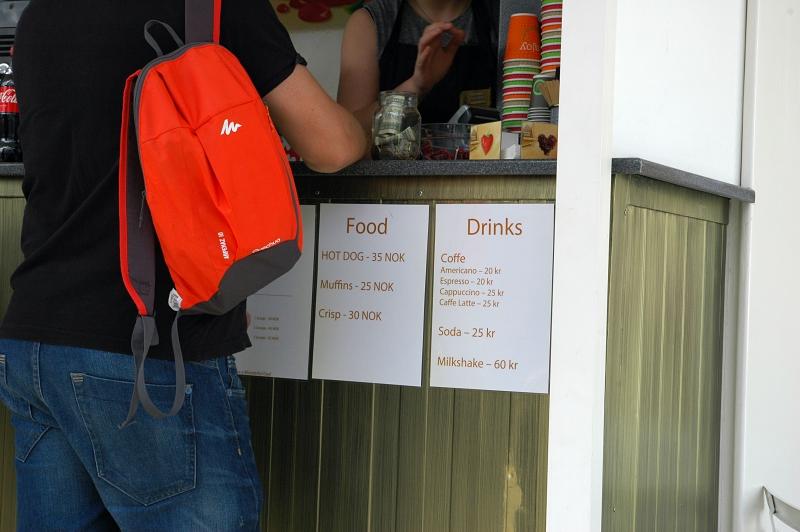 Oslo, ceny, kawa
