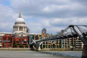Londyn, Millenium Bridge iKatedra św.Pawła