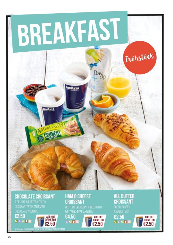 Ceny wsamolotach Ryanair - śniadanie