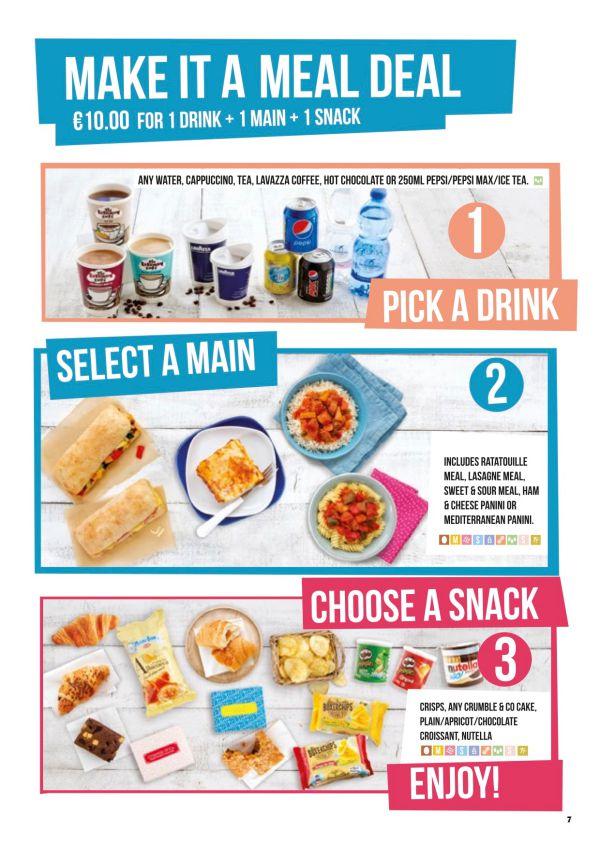 Ceny wsamolotach Ryanair - lunch
