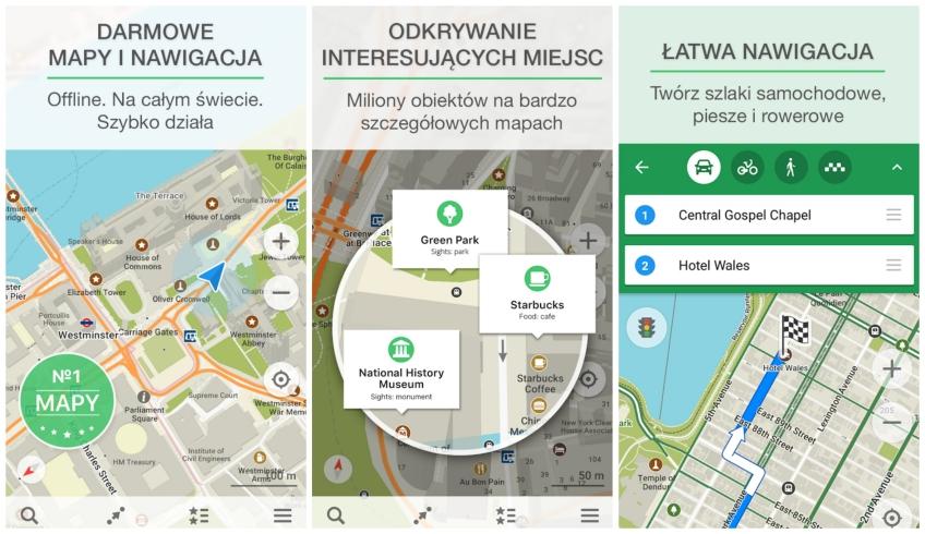 Aplikacje dla podróżników - Maps.me