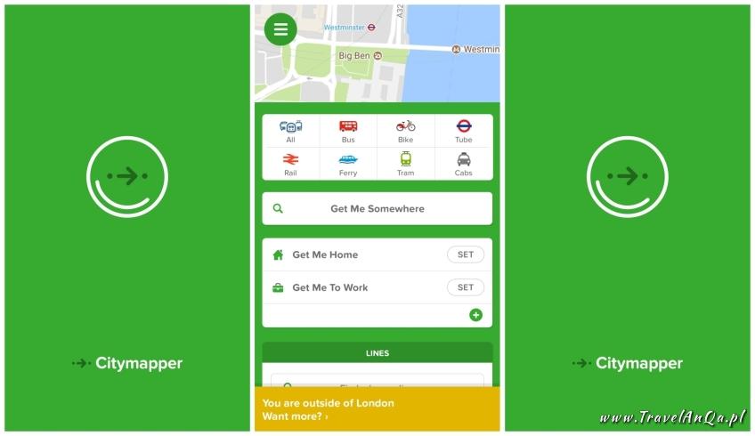 Aplikacje dla podróżników - CityMapper