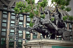 Londyn. Pomnik Boudica.