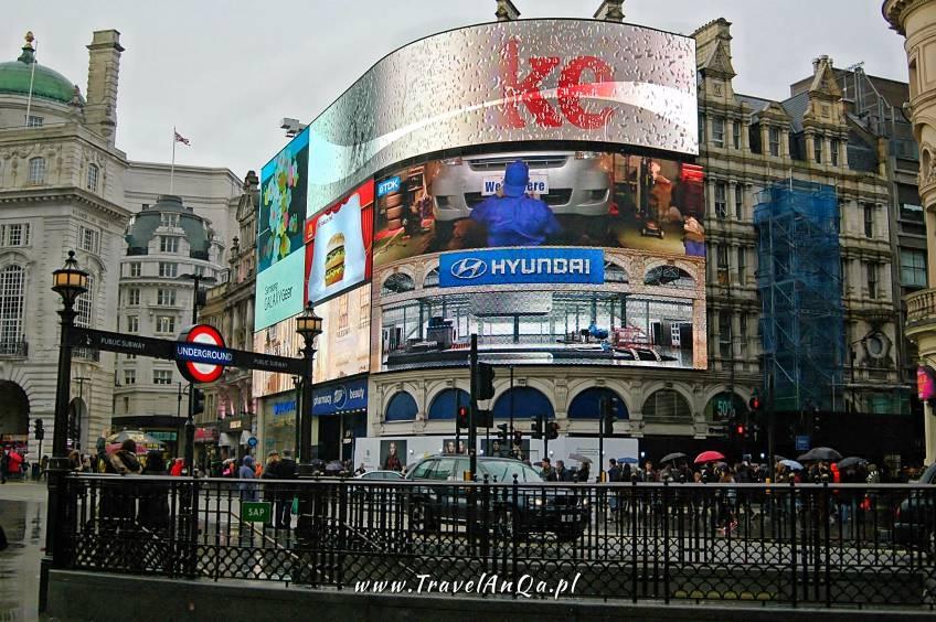 Wycieczka doLondynu naWłasną rękę - Piccadilly Circus