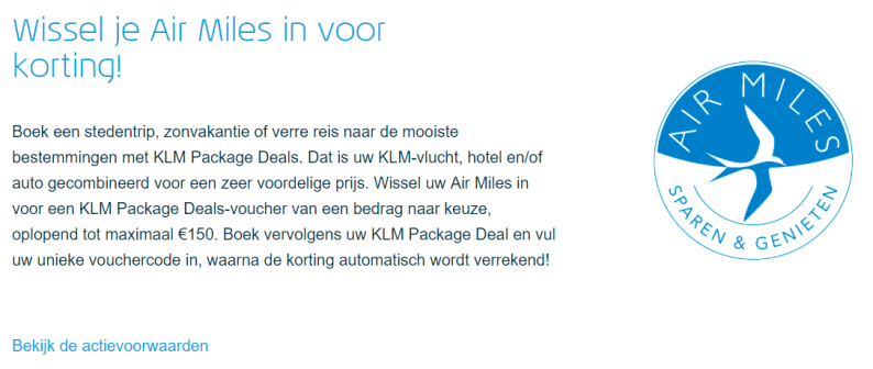 KLMvliegtickets metAir Miles