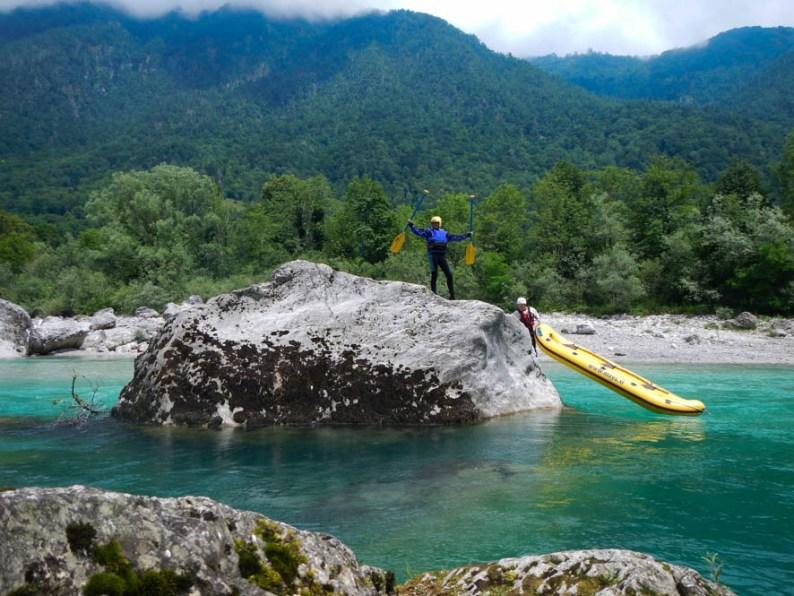 Raft glijden - Soca Valley