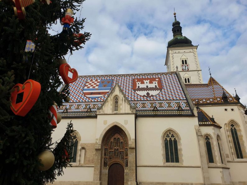 Bezienswaardigheid in Zagreb, de St. Marks Church