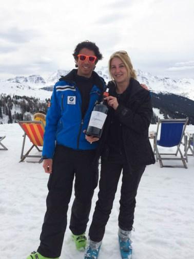 Wijn, skisafari, Alta Badia, Zuid Tirol, Dolomieten, Italie,