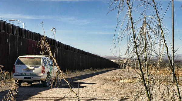 The border wall in Douglas, Arizona