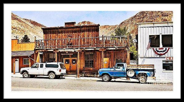 Historic buildings in Challis Idaho, framed prints by Tatiana Travelways