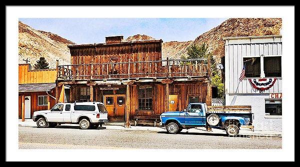 Historic buildings in Challis Idaho, framed prints by Tatiana Travelways