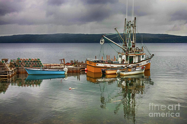 Lobster fishing boats Salvage Newfoundland, Canada