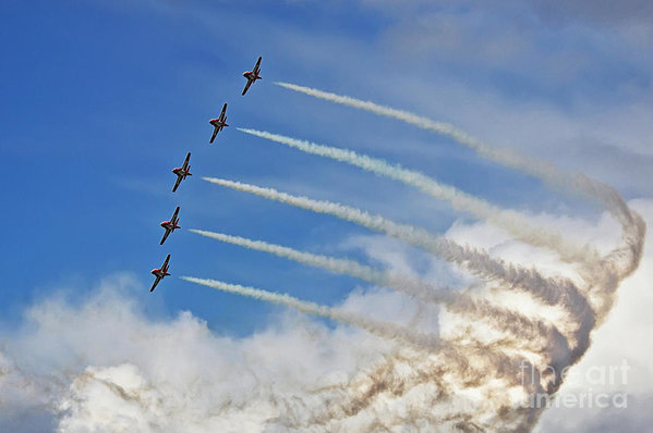 The Snowbirds in Flight