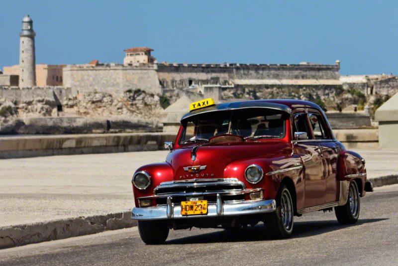 Vintage automobile in Havana Cuba