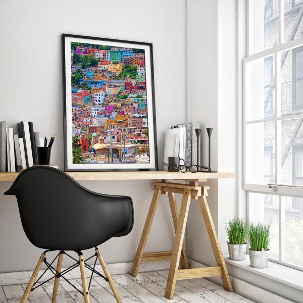 Guanajuato framed art print for home decor