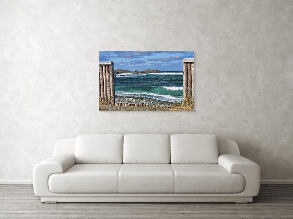 Gate to the sea art print by Tatiana Travelways