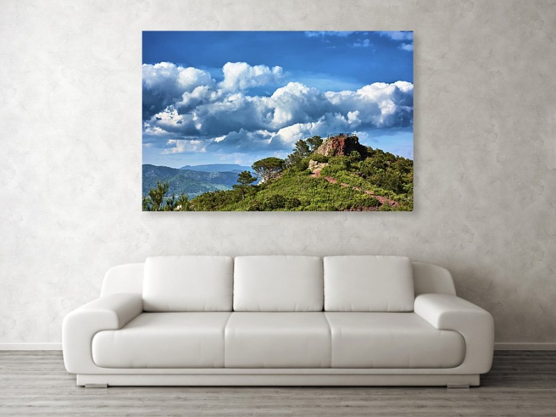 Natural lookout in Tarragona on canvas by Eduardo José Accorinti