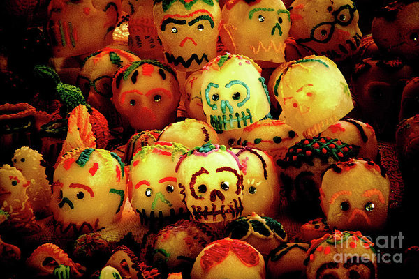 Candy sculls for the Day of the Dead in Mexico