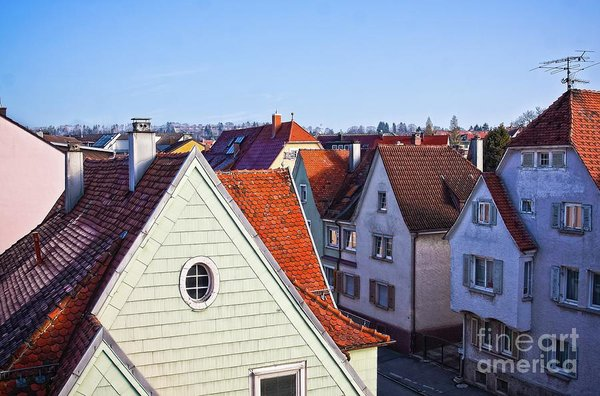 Red Roofs In Donaueschingen, Germany