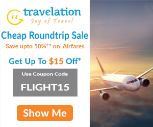 Cheap Round Trip Flight Sale! Book Now and Get $15 Off. Use Coupon Code FLIGHT15.