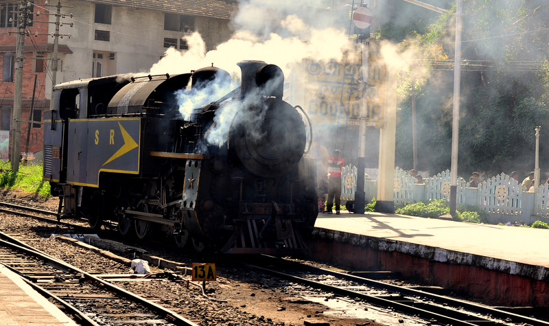 Steam loco at Coonoor