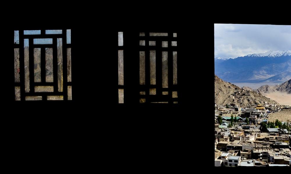 View from inside the Leh palace