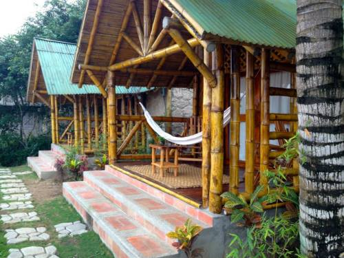 Side view of our bungalow
